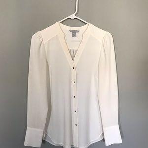 H & M ivory blouse